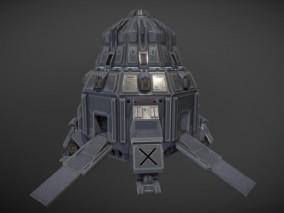 次时代写实宇宙飞船CG模型