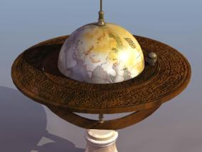 地球仪cg模型