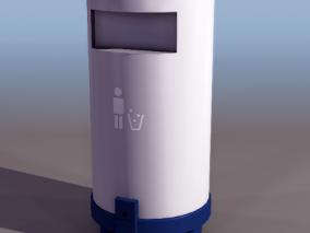 垃圾桶cg模型