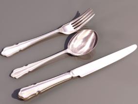 刀叉cg模型