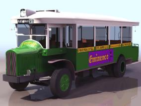 公共汽车cg模型