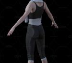 CG 运动 女孩 人物角色 动画模型