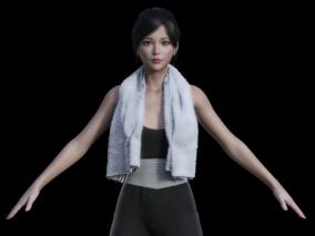 女孩cg模型