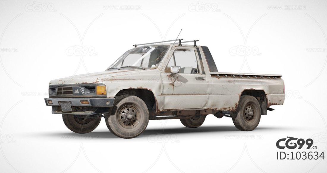 次时代 写实 吃鸡 车辆载具 生锈皮卡 运输车