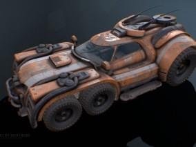 次时代写实装甲车cg模型
