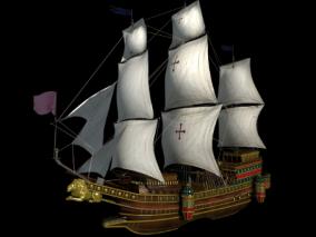 古代船海盗船3d模型