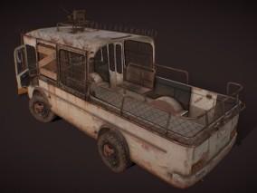 次时代写实武装巴士cg模型