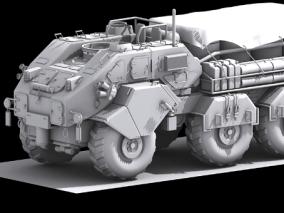 战车cg模型