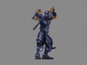 忍者cg模型