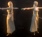 NieR:Automata Yorha Commander / 尼尔:机械纪元 尤尔哈 指挥官 角色 模型