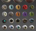 55个人类/动物/外星人 超写实眼珠 附带psd高清贴图