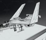 战斗机起飞动画  有绑定 军事飞机 轰炸机
