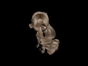 头发3d模型