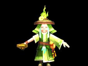 国风仙侠手游3d角色模型