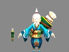 国风仙侠手游角色3d模型