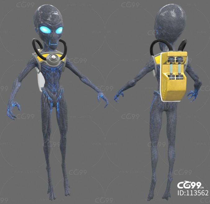 次时代PBR 写实 未来科幻 怪物 幻想人物 外星人