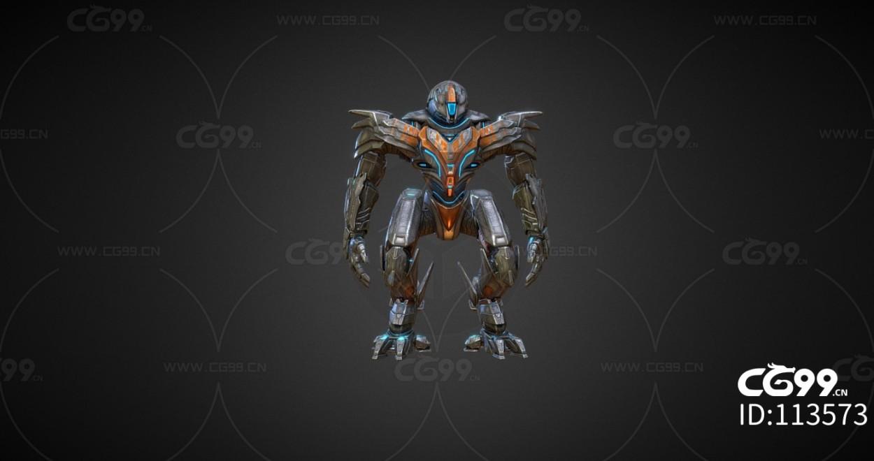 次时代PBR 未来 科幻 机甲 机器人 战士 变形金刚