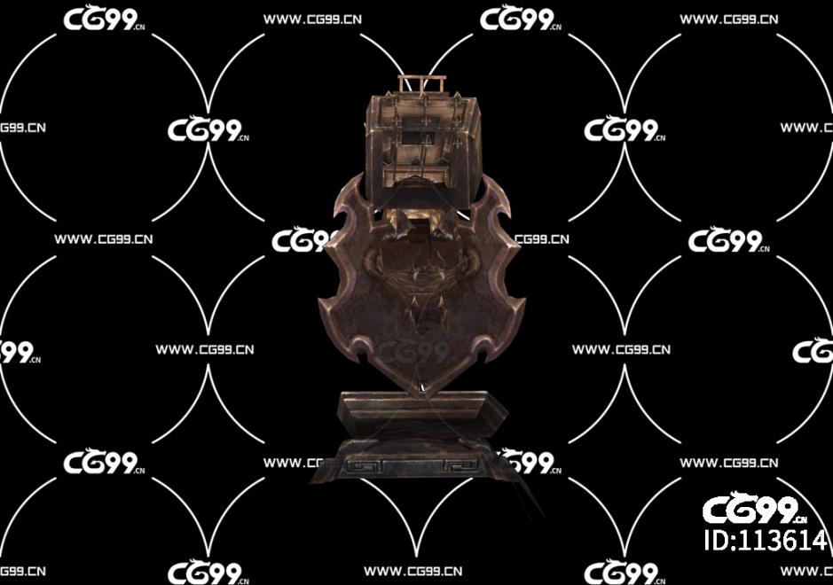 坐骑 怪物 boss 雕塑 场景模型 盾牌