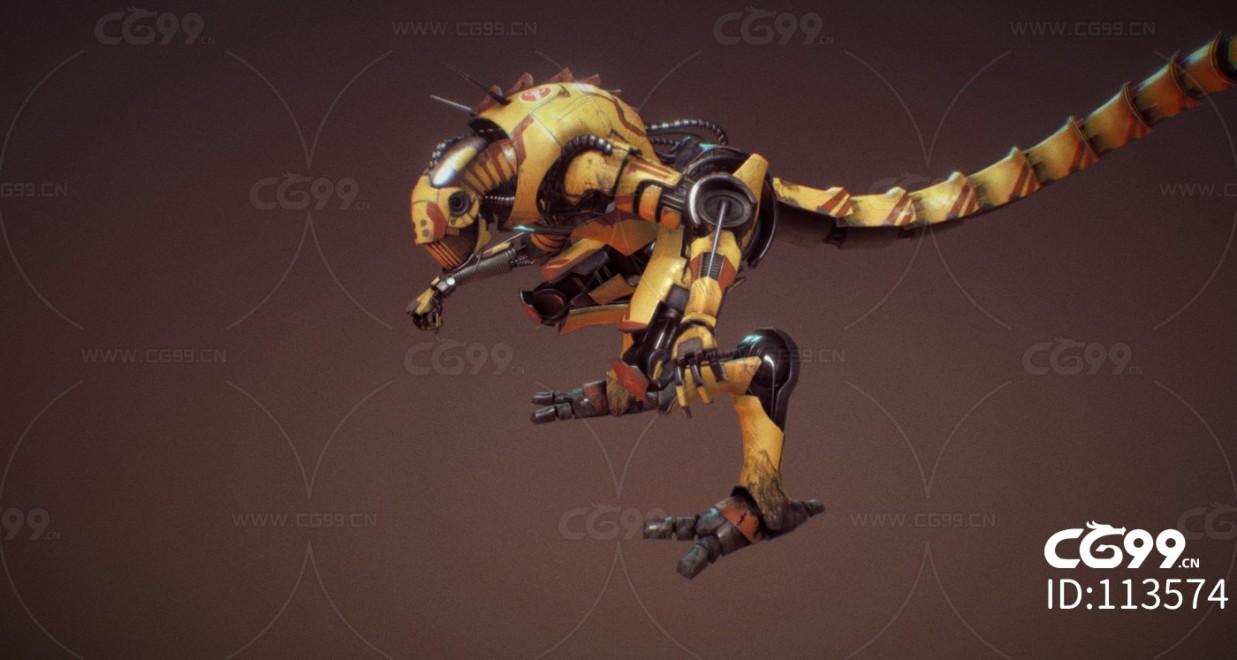 次时代PBR 未来 科幻 机甲 龙形态机器人 变形金刚