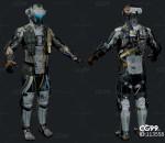 次时代PBR 写实 未来科幻 人物角色 机甲 战士 机器人