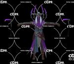 PBR 欧美 角色 游戏模型 带镰刀 恶魔