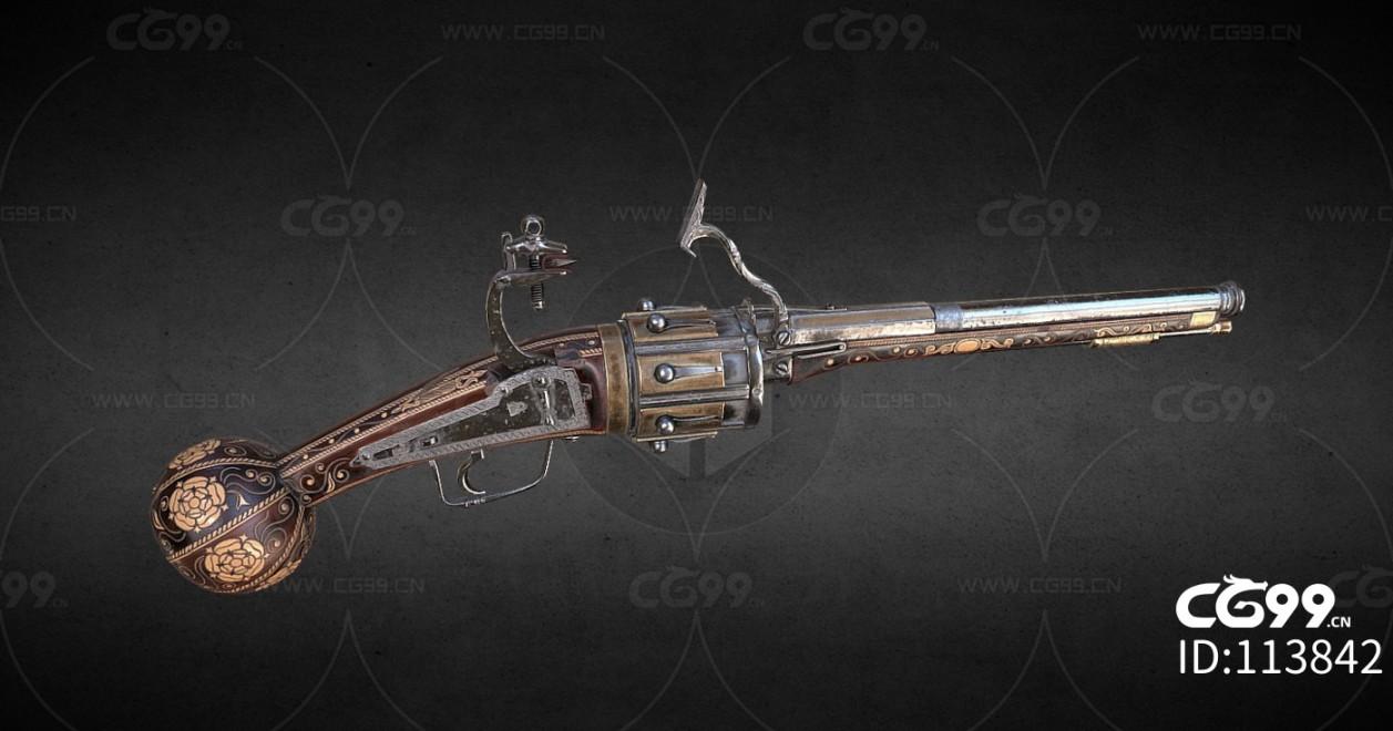 次时代PBR 写实 枪械 武器 老式火枪 散弹枪