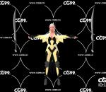 PBR 欧美 角色 游戏模型 女刺客 战士