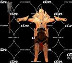 PBR 欧美 角色 游戏模型 战士 斗士 士兵