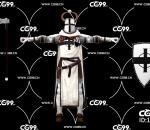 游戏模型 PBR 精美角色 白骑士 牛角骑士