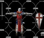PBR 欧美 角色 游戏模型 武士 战士 骑士
