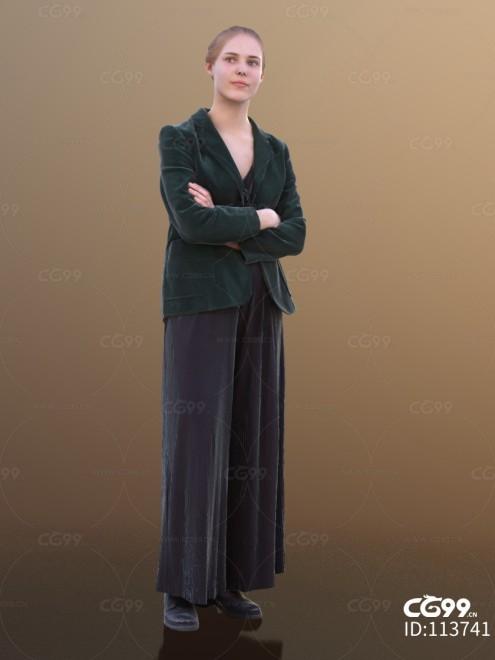3D扫描角色 现代女性 金发美女