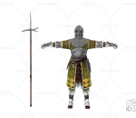 PBR 欧美 角色 游戏模型 战士 重装士兵