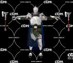 游戏模型 PBR 精美角色 男斧手 重甲勇士