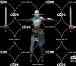游戏模型 PBR 精美角色 女骑士 女战士