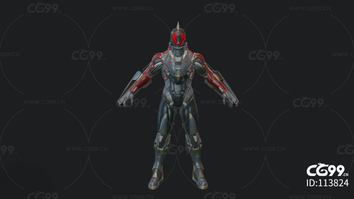 次时代PBR 写实 未来 科幻 战士 机甲 铠甲 运行一号