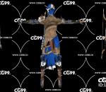 PBR 欧美 日系 游戏模型 弓箭手