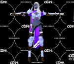 游戏模型 PBR 精美角色 女战士 亚马逊女战士