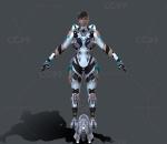 次时代PBR 写实 未来 科幻 机甲美女战士 运星一号