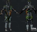 次时代PBR 科幻 机甲战士 机器人 型号:渗透者