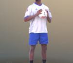 3D扫描角色 现代男性 黑人足球运动员
