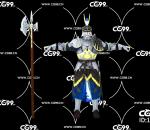 游戏模型 PBR 精美角色 斧手 战士