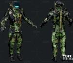 次时代PBR 科幻 机甲战士 机器人 型号:Forest