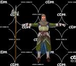 游戏模型 PBR 精美角色 长镰 长斧 士兵