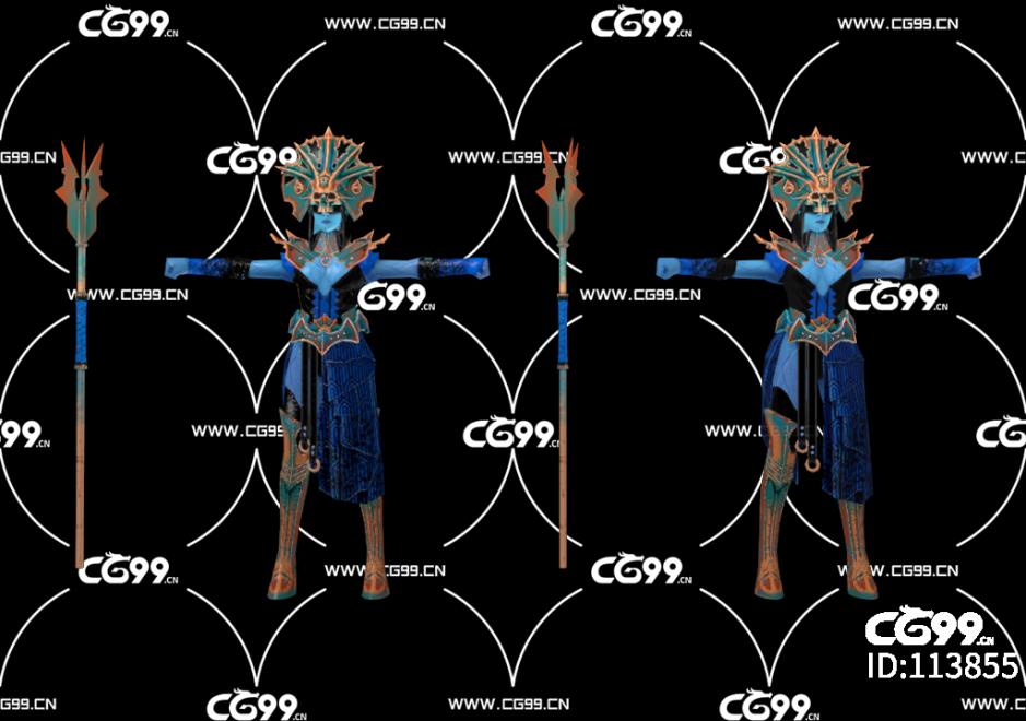 游戏模型 PBR 精美角色 祭司