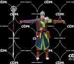 游戏模型 PBR 精美角色 重装步兵 战士