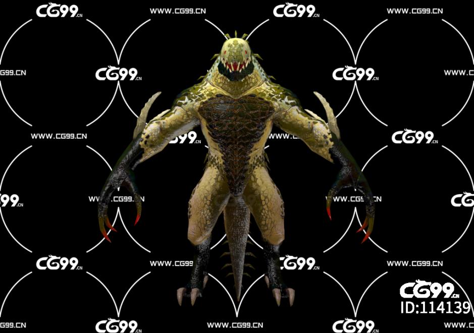 PBR 欧美 角色 游戏模型 怪物战士