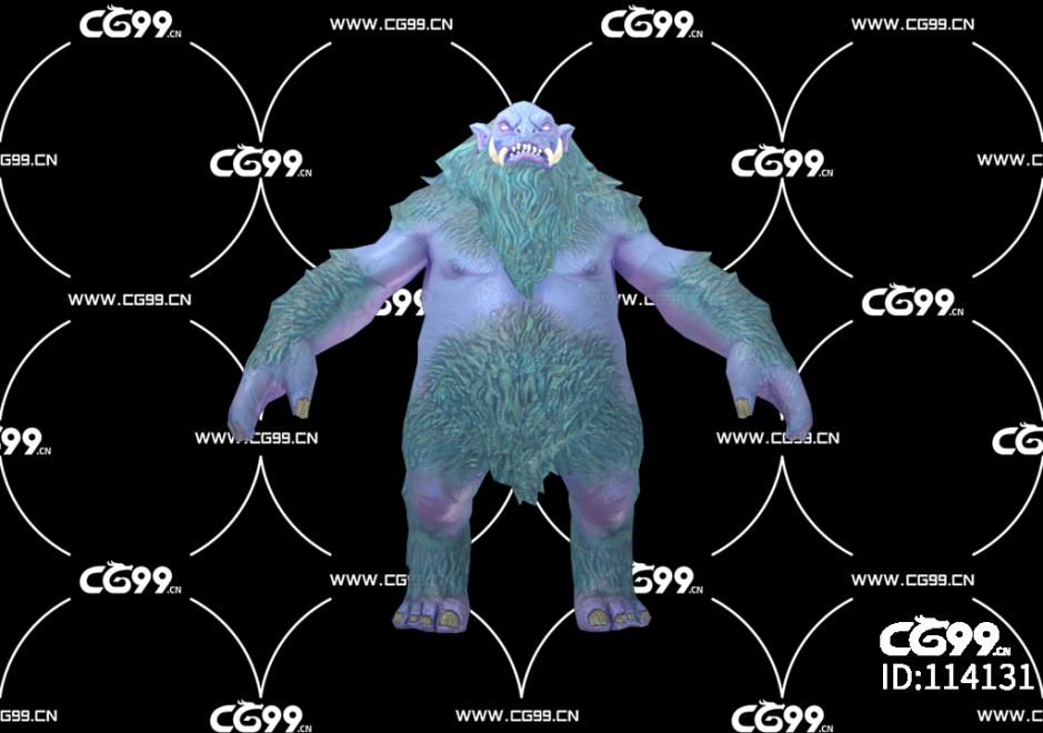 游戏模型 PBR 精美角色 怪人 雪人