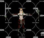 PBR 欧美 角色 游戏模型 女战士 斧兵