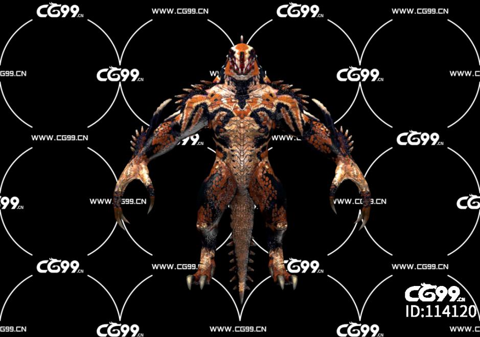PBR 欧美 日系 游戏模型 蜥蜴 怪物