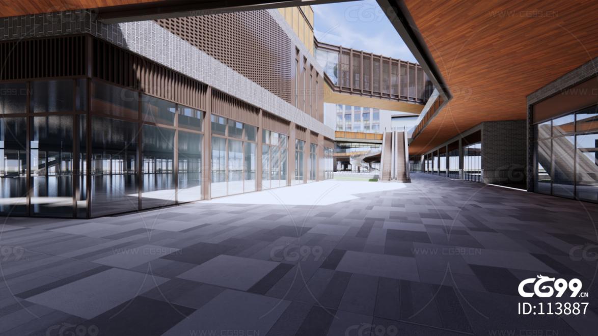 现代商业街建筑方案